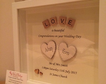 Wedding Engagment Scrabble Frame