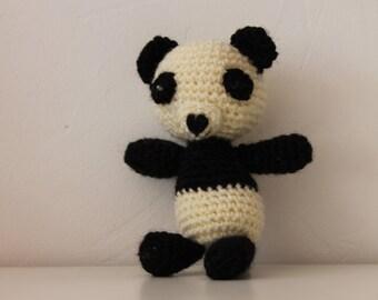 Pandi the amigurumi panda key ring or jewelry bag