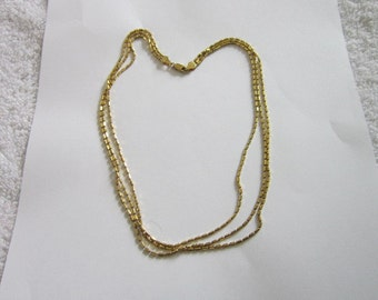 Itaor Sterling Silver with Gold wash 3 Strand Italian Necklace