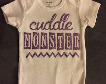 Cuddle monster baby onesie