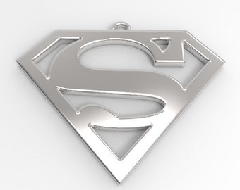 Superman Sterling Silver Pendant