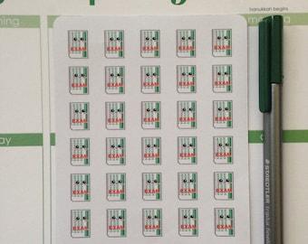 Kawaii Exam Planner Stickers