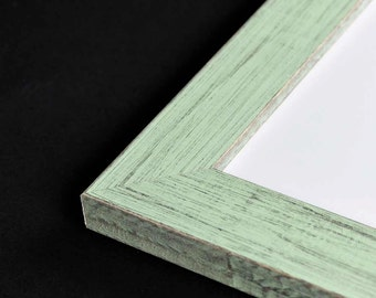 LARGE Mint Green Picture Frame - Rustic Reclaimed Distressed Barn Wood Style - All Wood - Choose your size - Custom Sizes Available