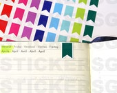 100 Bookmark/Flags stickers (ideal for planners) | Bright, Pastel or (NEW!)Glitter