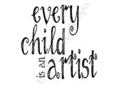 Printable .jpg file download - Child Artist - nursery playroom decor