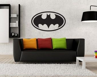 New Batman Logo Black Wall Decal Wall Stickers Large 100 cm X 58 cm