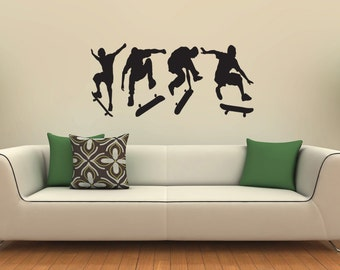 New Skate Skateboarding Skater Boys Wall Decal Wall Stickers Large 126 cm X 58 cm