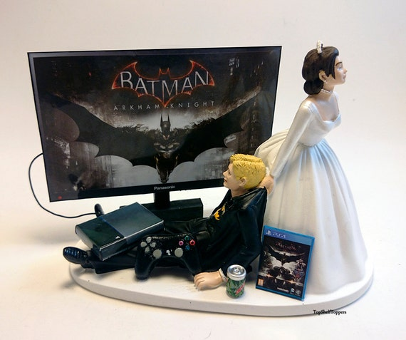 gamer wedding cake topper wedding cake topper bat and groom 4440