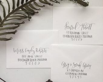Calligraphy Addressed Envelope - Wedding Envelopes - Calligraphy - Baby - Holiday