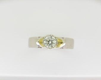 fluted bezel engagement ring