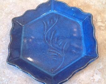 Vintage hexagonal tray