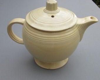 Vintage Cream-Colored Fiesta Teapot