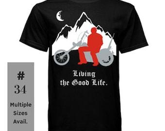 Black Motorcycle T-shirt, Gilden Ultra Cotton shirt, Motorcycle shirt, motorcycle t-shirt, motorcycle tee, black shirt, leanr gear t-shirt