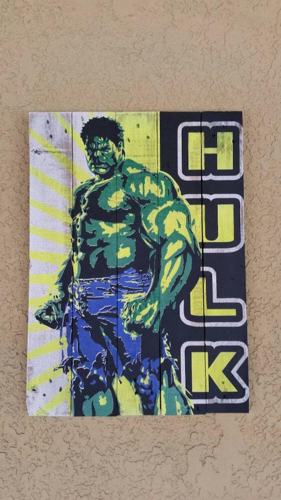 18 x24 wall art home decor marvel comics avengers incredible hulk
