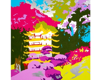 Eastern Delight limited edition unframed Giclee print, printed from an original aluminium painting by Louise Sanders