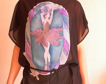 "Batik handmade clothing blouse ""Odillia"""