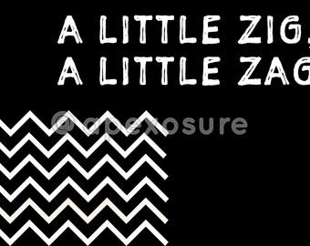 Digital Print: A Little Zig, A Little Zag (Chevron)