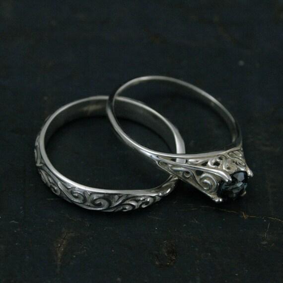 The Cinderella Bridal Ring SetSilver By InMyLifebyBlazerArts