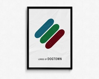 Lords of Dogtown - Custom Minimal Modern Art Movie Poster Print Abstract