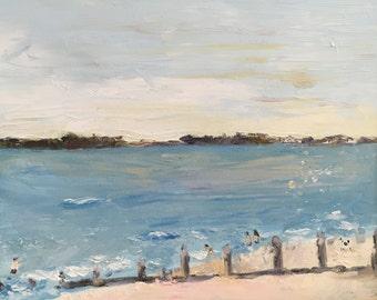 "Original oil painting, fine art impasto impressionism, ""Afternoon"""