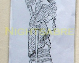 Lady Saint - Unmounted rubber stamp - non adhesive - Size 8.5 x 3 cm