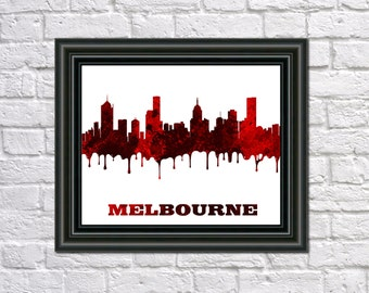 Melbourne skyline Etsy