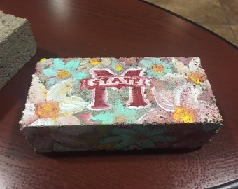 Flower Painted Brick