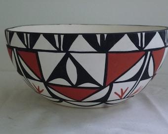 Acoma pottery bowl from New Mexico