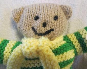 Knitted Lovable Teddy Bear