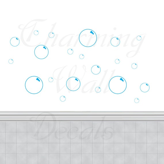 Bathroom Wall Art Bubbles : Bubble decals bubbles bathroom wall art by charmingwalldecals