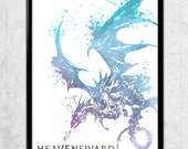 Final Fantasy XIV Online Heavensward Watercolor print/poster, wall art featured image