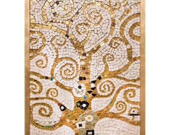 "Mosaic reproduction ""L'Albero della vita"" Gustav Klimt 78x40"