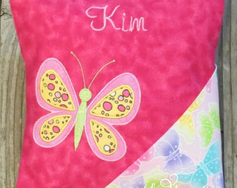 Tooth Fairy Pillow Girl Butterfly Personalized Embroidered