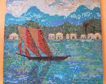 Polynesian Sailing Mosaic