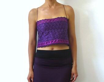 AUBADE Purple Bustier Top