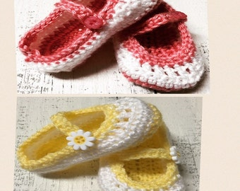 Baby Mary Janes, Crochet Baby Shoes, Baby Shoes, Crochet Infant Girl Shoes
