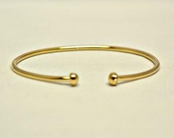 Gold Bracelet 5k Gold Filled 10 Gauge Thickness