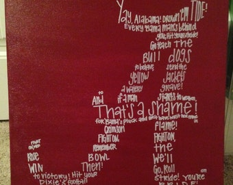 Alabama Fight Song Canvas