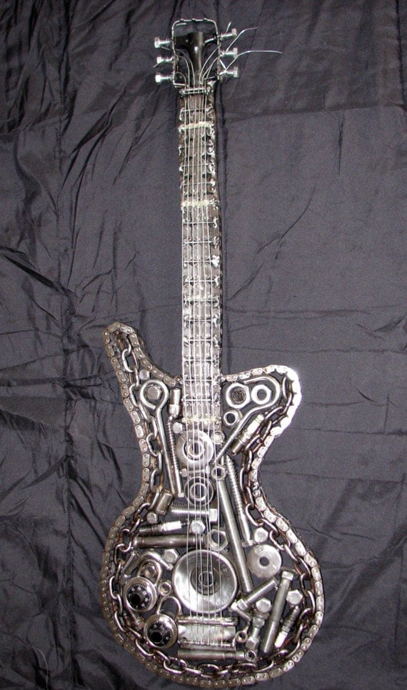 Custom Welded Metal Electric Guitar