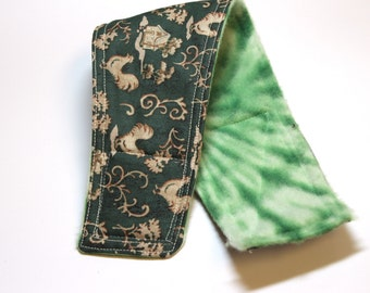 Male Dog Belly Bands-- Green Rooster Fabric