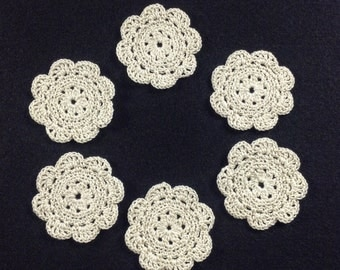 Crochet Flowers - set of 6