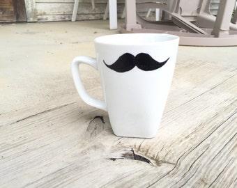 Mustache mug.