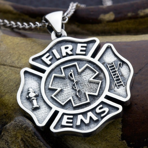 Large Maltese Cross Fire Fighter And Ems Paramedic Star Of