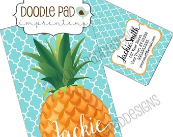 Pineapple Luggage Tag, Personalized Bag Tag