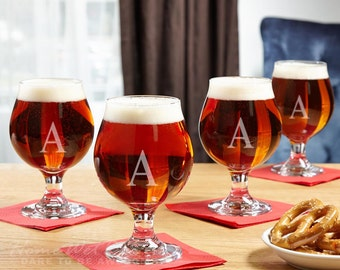 classic beer snifter set of 4 beer tasting glasses great for home bar