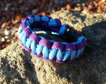 Paracord Survival Bracelet, Dual color, Child size