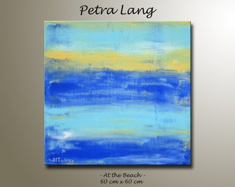 "Painting ""At the Beach"" Contemporary Art, Modern Abstract, Urban art, Canvas Art, Wall Art, Home Decor"