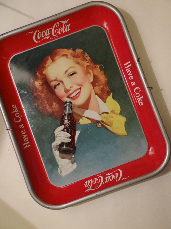Vintage Coca Cola Tray 58