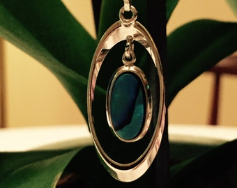 White Gold over Nickle and Silver with a Beautiful Pendant