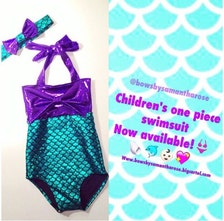 little mermaid one piece childrens swimsuit